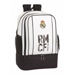 Real Madrid Ryggsäck Träningsväska Med Förvaringsutrymme För Sko Vit one size