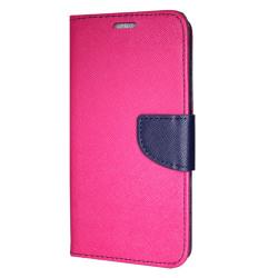 Samsung Galaxy A6 Plånboksfodral Fancy Case Pink-Navy Rosa