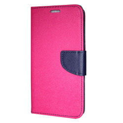 Samsung Galaxy A6 PLUS Plånboksfodral Fancy Case Pink-Navy Rosa