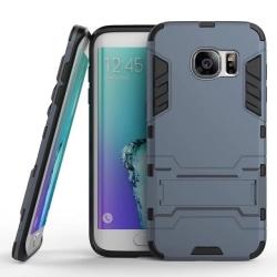 Samsung Galaxy S7 EDGE Hybrid Stöttåligt Skal  Stativ Funktion Mörkblå