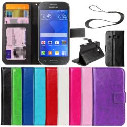 Slimmad plånbok fodral Samsung Galaxy Ace 4 ID/Fotoficka  Svart