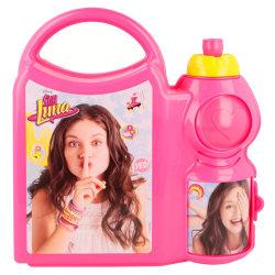 Soy Luna YES! 2i1 Matlåda Och Vattenflaska Med Handtag Rosa