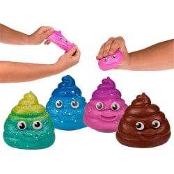 Sticky Squeeze Poo Stressboll Klämboll Anti Stress Bajs multifärg