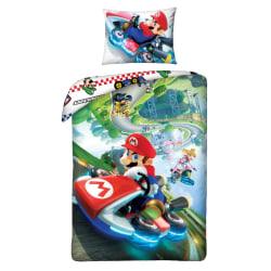 Super MarioKart Gravity Påslakanset Bäddset 140x200+70x90cm multifärg