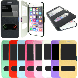 TOPPEN 2i1 iPhone 5S/SE Flip Dual View Cover Magnetlås + Skydd Svart