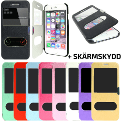 TOPPEN 2i1 iPhone 5S/SE Flip Dual View Cover Magnetlås + Skydd Guld