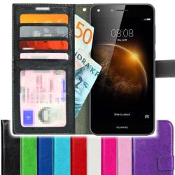 TOPPEN Huawei Y6II Compact Plånboksfodral 4st Kort Svart