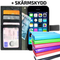 TOPPEN Plånboksfodral iPhone 4/4S Med ID/Fotoficka +Skydd Lila