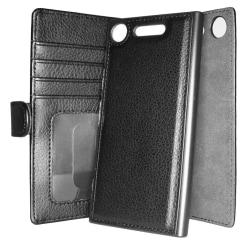 TOPPEN Plånboksfodral Sony Xperia XZ1 RFID-Skydd Avtagbart Skal Svart