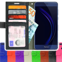 TOPPEN SLIM Plånboksfodral Huawei Honor 8 + Skärmskydd Guld