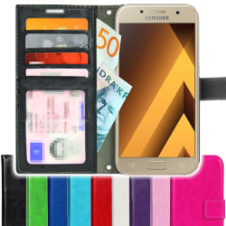 TOPPEN SLIM Samsung Galaxy A3 2017 Plånboksfodral 4st Kort Svart