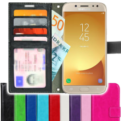TOPPEN SLIM Samsung Galaxy J5 2017 Plånboksfodral 4st Kort Svart