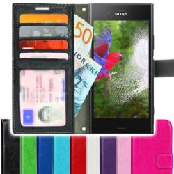 TOPPEN SLIM Sony Xperia XZ1 Plånboksfodral 4st Kort Svart