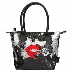 Trend Love Handväska Med Paljetter Kiss Black Black one size