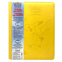 Ultra Pro Premium 9-Pockets Pikachu Samlarpärm 360 Kort Cards Gul