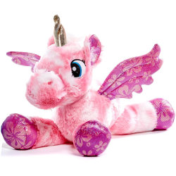 Unicorn Enhörning 55cm Gosedjur Plysch Stort Mjukisdjur Bling Ro Rosa