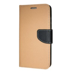Sony Xperia 10 Plånboksfodral Fancy Case + Handrem Guld-Svart Guld