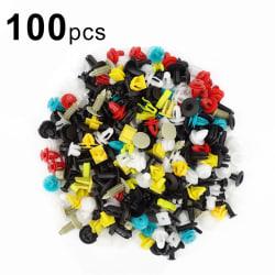 100pcs/set Universal Mixed Car Various Plastic Rivet Fastener D 100pcs