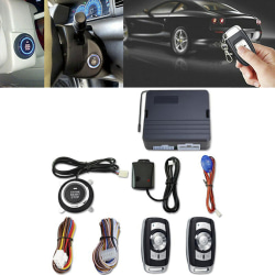 12V Universal Car Push Button Start Remote Ignition Vibration Al Black