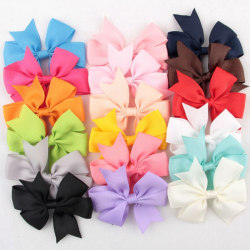 18 Pcs Hair Bows Kids Cloth Ribbon Boutique Lovely No Clips for