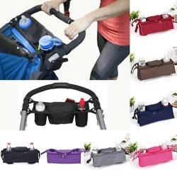 1X Baby trolley storage bag organizer stroller buggy pram cup h Navy