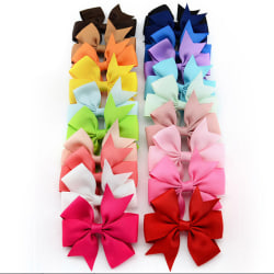 20 Pcs Wholesale Bowknot Hairpin Kids Baby Girls Hair Bow Clips