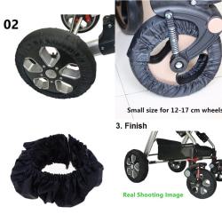 2Pcs Baby Kids Stroller Pram Anti Dirty From Floor Wheel Black  S