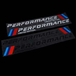 2PCS Car-Styling Stickers M Performance Limited Edition Side Doo Black