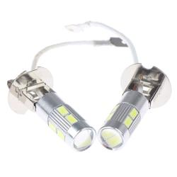 2X H3 50W 6000K High Power Car LED Bulbs White onesize