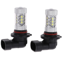2x Super Bright White LED 9006 HB4 High Power 80W Fog Light Dri onesize