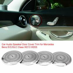 4pcs Car Audio Speaker Door Loudspeaker Cover Trim for  W213 W2
