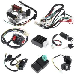 50/70/90/110CC CDI Wire Harness Assembly Wiring Set ATV Electri Black