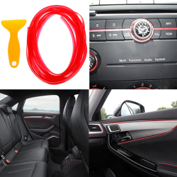5M Red flexible car styling interior molding trim decorate strip One Size