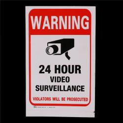 5pcs 24H CCTV Video Camera System Security Warning Sign Sticker 0