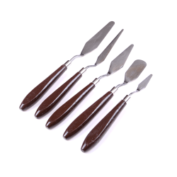 5pcs/Set Stainless Steel Spatula Palette Knife Painting Mixing S 0 0
