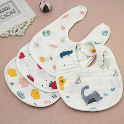 8 layers Baby Boy Girl Newborn Kids Bibs Saliva Towel Bib Feedin F