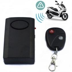 Stöldskydd Motorcykel Scooter Larmsystem Säkerhet U Black