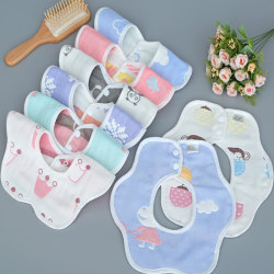 Baby Bibs 360 Degree Rotation Gauze Muslin Bandana Cloth Soft Ne onesize