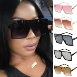 Big Square Sunglasses Women Men Vintage Metal Oversized Shades E B