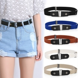 Buckle-Free Waist Belt No Buckle Hassle Stretch Elastic Waist B Black Black
