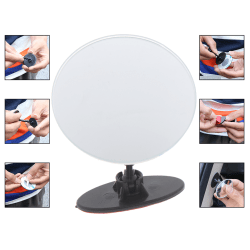 Car 360 Wide Angle Round Convex Mirror Car Side Blind Spot Rear  one size