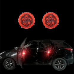 Car Door Opening Warning Lights Wireless Strobe Flashing Decorat Multicolor