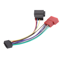 Car Stereo Radio Plug ISO Wiring Harness Adapter Connector 16 P Black