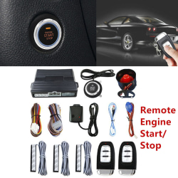 Car SUV PKE Keyless Entry Engine Start Alarm System Push Button  Black