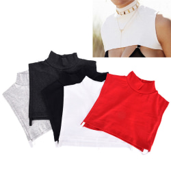 Detachable Cotton High Shirt Fake False Collar Choker Necklace  White