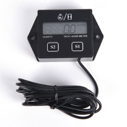 Digital Engine Tach Tachometer Hour Meter Inductive for Motorcyc