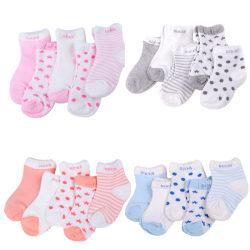 Fashion 5 Pairs Baby Boy Girl Cotton Cartoon Socks Toddler Kids Pink S