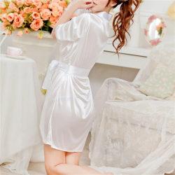 Hot Women Sexig Faux Satin Spets Silke Underkläder Underkläder Nightdre