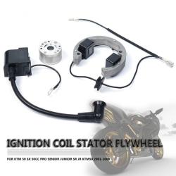 KTM50 SX 50cc Pro Senior Junior SR JR 01-08 Ignition Coil Stator Silver