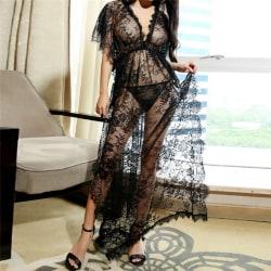 Lady Sexig-underkläder Spetsklänning Babydoll Nattklänning Kort